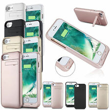 Slim External Backup Power Bank Battery Charger Stand Case Cover For iPhone 7 7+