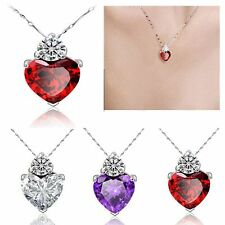 Jewelry Crystal Rhinestone Pendant 925 Silver Plated Necklace