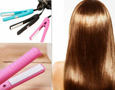 Hot Curls Hair Straightener Mini Iron Ceramic Electronic comb Pink Straightening