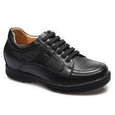 """Height Increasing Shoes 2.95"""" Taller Insoles Leather Elevator Shoes CHAMARIPA"""