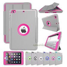 For Apple iPad Leather Smart Stand Cover Shockproof Heavy Duty Hard Fold Case