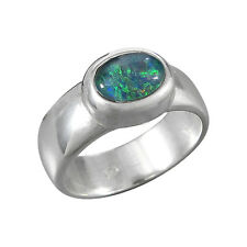 schmuck-michel Ring Silver 925 OPAL-TRIPLET 8x6 mm Size 50-65 Available (4230)