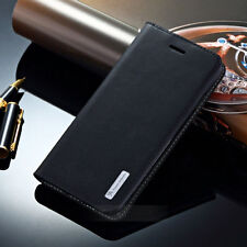 Luxury Genuine Leather Case Flip Wallet Stand Cover Holder For iPhone/Samsung