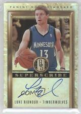 2011-12 Panini Gold Standard Superscribe Signatures #18 Luke Ridnour Auto Card
