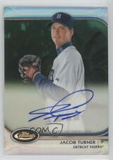2012 Topps Finest Autographed Rookies Green Refractor #AR-JT Jacob Turner Auto