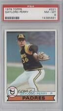 1979 Topps #321 Gaylord Perry PSA 8 San Diego Padres Baseball Card
