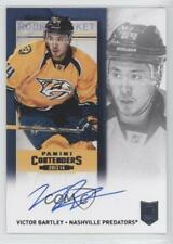 2013 Panini Playoff Contenders #163 Victor Bartley Nashville Predators Auto Card