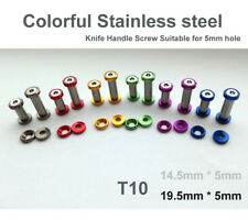 "0.76""(19.5mm) colorful Stainless steel Knife Handle Screw Suitable for 5mm hole"
