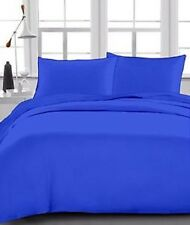 1 Fitted + 2 Pillow case 1000 Thread Count Egyptian Cotton Egyptian Blue Solid
