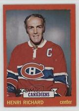 1973-74 O-Pee-Chee #87 Henri Richard Montreal Canadiens Hockey Card
