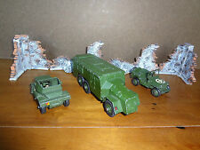 Dinky die cast military toy vehicles