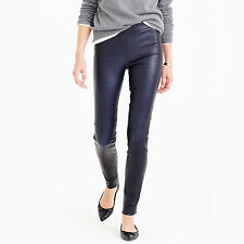NWT - J.CREW - Collection Leather Leggings - size 0 (Royal Indigo) $495