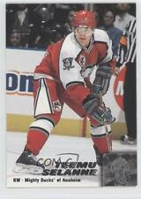 1999 Pacific Omega 6 Teemu Selanne Anaheim Ducks (Mighty of Anaheim) Hockey Card