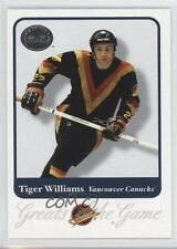 2001-02 Fleer Greats of the Game 39 Tiger Williams Vancouver Canucks Hockey Card