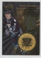 1996-97 Pinnacle Mint Gold #5 Paul Kariya Anaheim Ducks (Mighty of Anaheim) Card