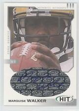 2002 SAGE Hit Autographs Silver H4 Marquise Walker Michigan Wolverines Auto Card