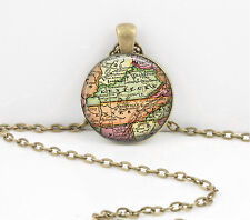 Kentucky Vintage Map Pendant Necklace Jewelry or Key Ring