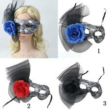 Venetian Masquerade Flower Lace Ball Prom Eye Face Mask Halloween Party 3 Colors
