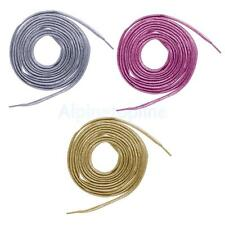 2 Metallic Thread Shoelaces Flat String for Sneakers Running Trainer Shoes 62""