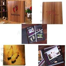Handmade DIY Scrapbook Vintage Photo Albums Wooden Picture Photograph Album