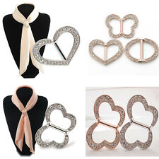 Butterfly Heart Oval Scarf Rings Buckle Clip Holder Wedding Party Jewelry Gift