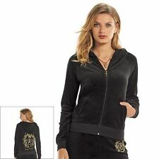 Juicy Couture Velour embellished Track Suit & Hoodie Separates Black-Blue-Purple