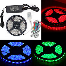 RGB 16.4FT 5M 5050/3528 300LEDs LED Strip Light Waterproof +DC Power + IR Remote
