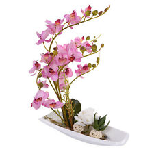 Potted Flowers Home Decor Simulation Artificial Silk Flower Phalaenopsis Bonsai