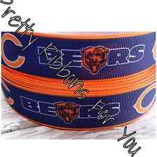 """Chicago Bears 5/8"""" wide grosgrain ribbon the listing is for 5 yards"""
