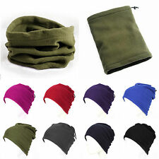Mens Womens Polar Fleece Beanie Hat Snood Scarf Neck Warmer Ski Balaclava Unisex
