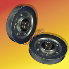 (2) , Steel V-Idler Pulley Replace MTD 756-0226, 756-0293, 756-0293A, 756-1208,