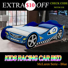Kids Race Night Sport Racing Car Bed Children Bedroom Blue--- Mattres Optional