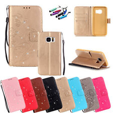 New Clear Luxury Leather Wallet Card Holder Flip Case Cover For Samsung Galaxy