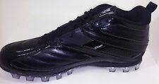 New Reebok Pro Workhorse NFL Mid AT Black on Black Football Cleats