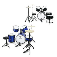 5PC Drum Set Adult Complete Kit Cymbals Full Size Starter w/ Drum Set and Stand