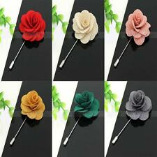 Multi-Color Daisy Lapel Rose Brooch Pin Boutonniere Flower