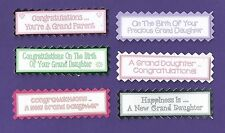 6 Birth of GrandDaughter OR Gt GrandDaughter Sentiment Message Craft Banners
