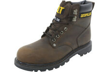 Caterpillar Second Shift ST Steel Toe Slip Resistant Brown Boots Shoes P89586