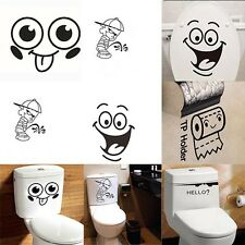 Vinyl Home Bathroom Decor Removable Paper Decals Toilet Wall Sticker