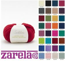 Sublime Extra Fine Merino WORSTED Knitting Yarn - 50g - Variety of colors