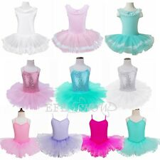 Girls Lace Ballet Dance Dress Kids Cotton Leotards Various Types Costumes 2-12Y