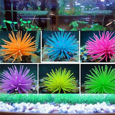 Silicone Aquarium Fish Tank Decor Artificial Coral Plant Underwater Ornament HU