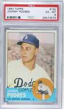 1963 Topps #150 Johnny Podres PSA 6 Los Angeles Dodgers Baseball Card