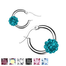 Coolbodyart Ladies Surgical steel 1 Pair Of Earrings silbern Tires mit