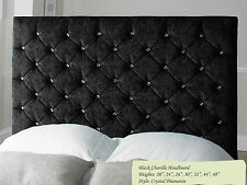 Deluxe Chenille Tufted Divan Beds Headboard Padded Home Bedroom Decor Sale Deals