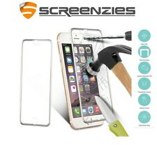 iPhone 5 6 6+ 7 7+ SE 3D Curved Alloy Edge to Edge Metal Titanium Tempered Glass