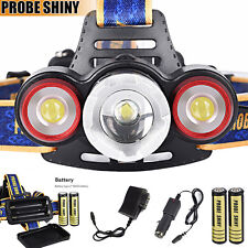 8500Lm Rechargeable Cree XML T6+2R5 3 LED Headlamp Tactical Head Light Torch Kit