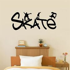 Skate Vinyl Wall Decal Removable Kids Boys Room Decal Skateboarding, Sport