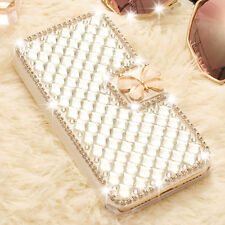 Luxury Bling butterfly Crystal Diamond Wallet Flip Case Cover For iPhone 6s 7 5