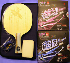 Friendship RITC2008 Custom Made Ti + Carbon Table Tennis Paddle + Full Case